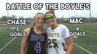 RFH 11 RBC 10 | HS Lacrosse | Battle of the Boyles! | Chase Boyle GW Goal