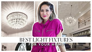 BEST LIGHT FIXTURES | Lighting Ideas For Your Home - Size And Style | Julie Khuu