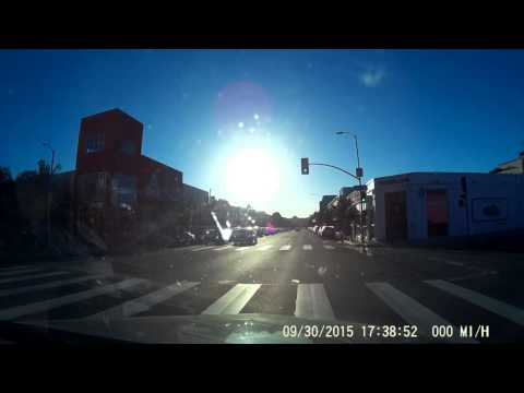 Bad car accident in Los Angeles caught on my dashcam