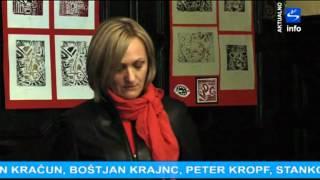preview picture of video 'Skala TV info - aktualno Razstava varovancev VDC - Grafični odtisi'
