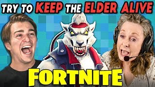 FORTNITE | Keep The Elder Alive Challenge (React: Gaming)