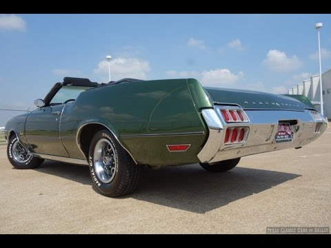 1972 Oldsmobile Cutlass Supreme Convertible Classic Video