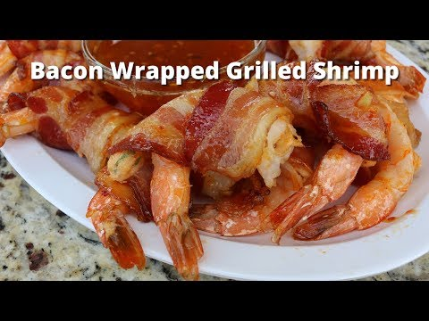 Bacon Wrapped Grilled Shrimp Recipe   Grilled Bacon Wrapped In Shrimp on PK Grill
