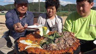 흥삼이가 만든 [[우삼겹김치볶음밥(Kimchi Fried Rice With Beef Loin)]] 요리&먹방!! - Mukbang Eating Show