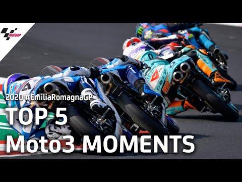 Moto3 ミサノサーキット(エミリア・ロマーニャGP)レースの中から気になるシーントップ5を集めたダイジェスト動画