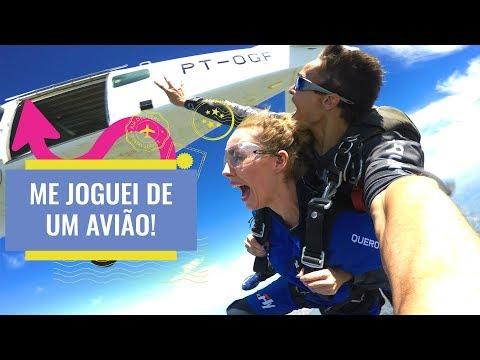 Nosso Primeiro Salto de Paraquedas - Paraquedismo em Boituva SP / Feat. Um Flip Na Vida