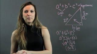 Algebra & The Pythagorean Theorem : High School Math Help