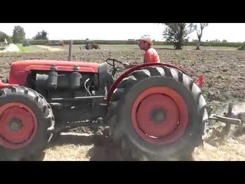 SAME 480 DT plowing
