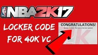 LOCKER CODE FOR 40K VC *NOT CLICKBAIT*   NBA 2K17