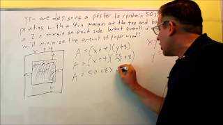 Calculus Optimization Problems: Poster With Margins