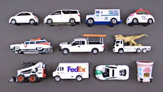 Best Learning Cars Trucks Street Vehicles Colors for Kids - #1 White Hot Wheels, Matchbox, Tomica
