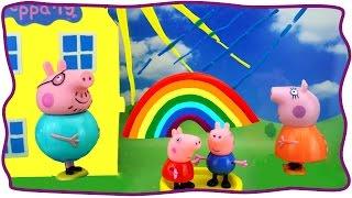 Развивающий мультик про свинку Пеппу и РАДУГУ. Учим цвета радуги Toys Peppa Pig . На русском языке