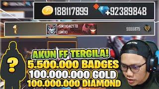 SIAPAKAH DIA? AKUN TERSULTAN 100 JUTA DIAMOND DAN 5 UTA BADGES!