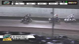 Knoxville Raceway 360 Highlights #2 - June 18, 2021
