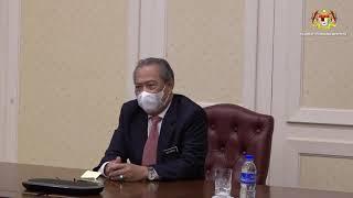 Sidang Video YAB Perdana Menteri bersama petugas barisan hadapan Hospital Sg Buloh
