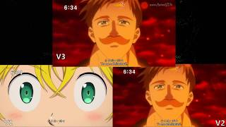 Nanatsu No Taizai: Imashime No Fukkatsu OP 2 V1,v2 Y V3 Comparativa.