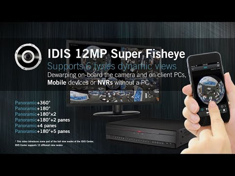 IDIS 12MP Super Fisheye Camera