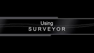 using surveyor