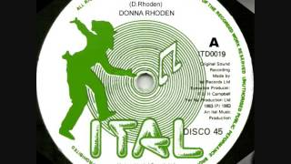 DONNA RHODEN ~ WE ARE IN LOVE ~ DISCO 45 (ITAL) LOVERS ROCK