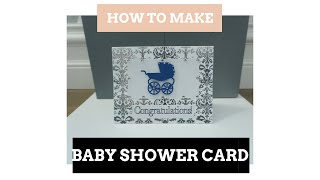 How To Make A Baby Shower Card In Cricut Design Space-tutorial