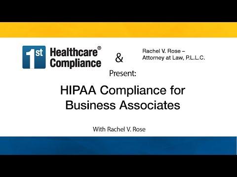HIPAA Compliance for Business Associates - YouTube