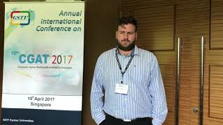 Nicholas Sean Combrink at CGAT Conference 2017 by GSTF Singapore