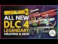 BORDERLANDS 3 | All New Psycho Krieg Legendary Weapons & Gear So Far - Fantastic Fustercluck DLC 4