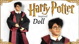 Harry Potter Inspired Repaint (part 2) Doll Clothes Tutorial