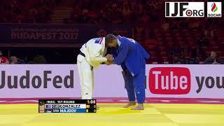 Judo WCh Budapest 2017 -90kg 1st round Majdov (SRB) - Gonzalez (CUB)