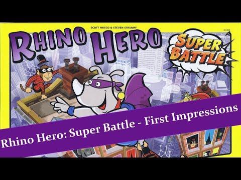 Rhino Hero Super Battle - First Impressions - JTRPodcast