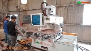 MÁY CNC MỘNG ÂM 5 Đầu Woodmaster chạy Router - khoan siêu nhanh