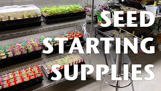 SEED STARTING DOESN'T HAVE TO BE EXPENSIVE, but it can be | GROW LIGHTS and SEED STARTING SUPPLIES