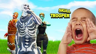 How Kids REACT to RARE SKINS (Fortnite Battle Royale)