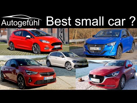 Peugeot 208 vs VW Polo vs Ford Fiesta vs Mazda2 vs Opel Corsa COMPARISON REVIEW best small hatch