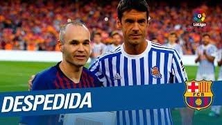 El Camp Nou despide a Andrés Iniesta
