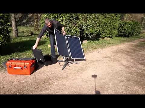 Mobile Solaranlage, Inselanlage , Solartracker, Solarnachführung, Solaranlage für Camping Outdoor