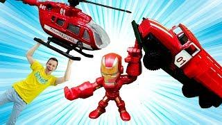Супергерои - Ремонтируем Железного Человека! - Игры для детей.