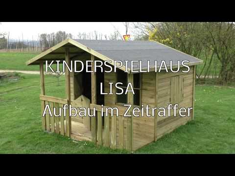 Aufbau Kinderspielhaus LISA im Zeitraffer