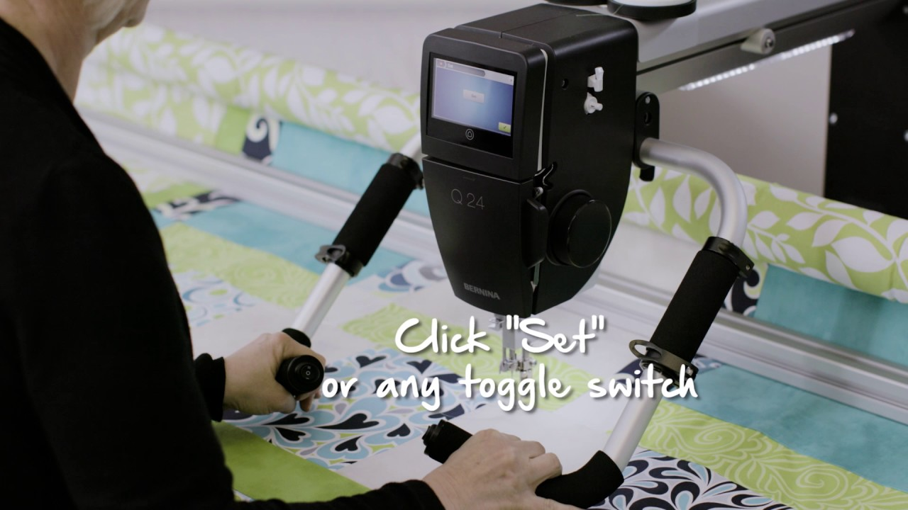 BERNINA Q-matic Video Tutorial: Grab and Drop