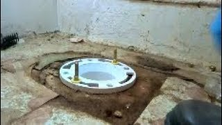 Leaking Cast Iron Toilet Flange Replaced Part 2 Of 2