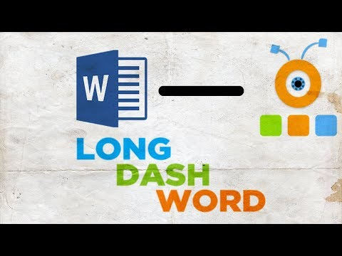 How to Put a Long Dash in Word | How to Insert a Long Dash in Word (видео)
