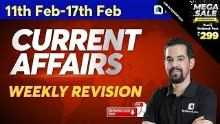 Current Affairs for DRDO MTS & RRB NTPC | 11-17 February Current Affairs in Hindi | Weekly Revision