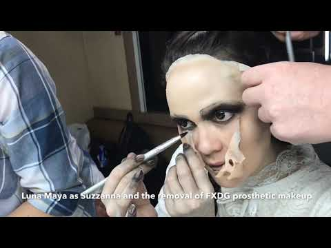 LUNA MAYA AS SUZZANNA AND REMOVAL PROSTHETIC MAKEUP