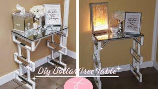 DIY Dollar Tree Table | DIY Large End Table | Mirror Furniture | DIY Room Decor | Display Table