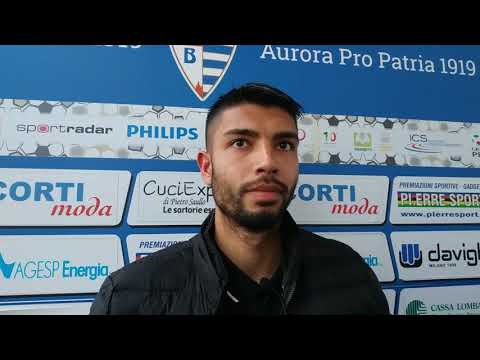 Pro Patria-Arezzo 0-1, intervista a Bryan Gioè