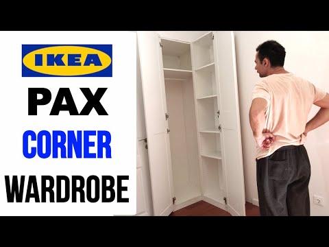 IKEA PAX Corner Wardrobe Assembly - Ikea Corner Closet Assembling