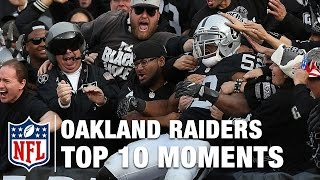 Top 10 Moments in Oakland Raiders History   NFL
