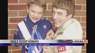 Local Family Celebrates As 2 More Sons Become Eagle Scouts, Totaling 6