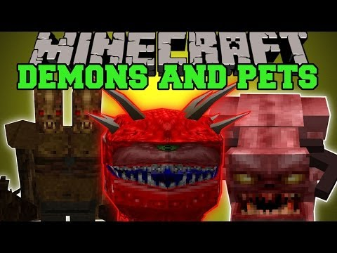 Minecraft: DEMONS AND PETS (EVIL MOBS, PETS AND BREEDING!) Lycanite's Mob Mod Showcase