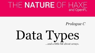 Prologue C - Data Types